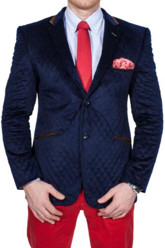 Jackett Business Blau Wam Denim Jacke D'Anzug Sakko Gesteppt Blazer Zweiknopf zxXwnx