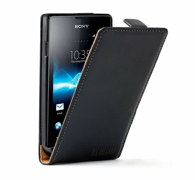 ULTRA SLIM Leather Flip Case Phone Cover for Sony eXperia E Dual C1604 / C1605