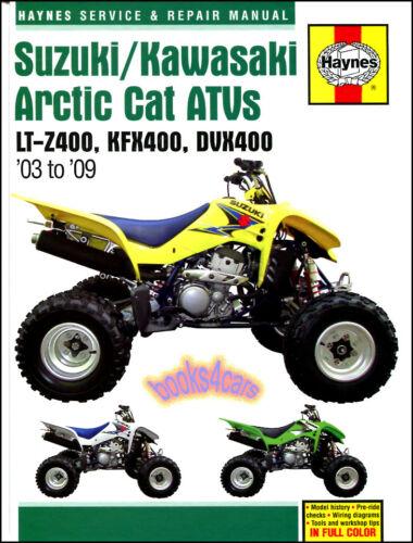 ARCTIC CAT DVX400 SHOP MANUAL SERVICE REPAIR BOOK ARTIC DVX 400 ...