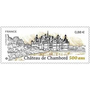 2019-TIMBRE-NEUF-CHATEAU-DE-CHAMBORD-500-ANS
