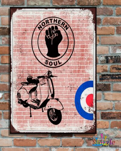 """NORTHERN SOUL 10x8/"""" Retro Vintage Metal Advertising Sign Plaque  Wall Art Pic"""