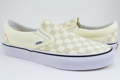 Vans Slip-On -Classic Off White/Light Beige Checkerboard Checker Check-Men/Women | eBay