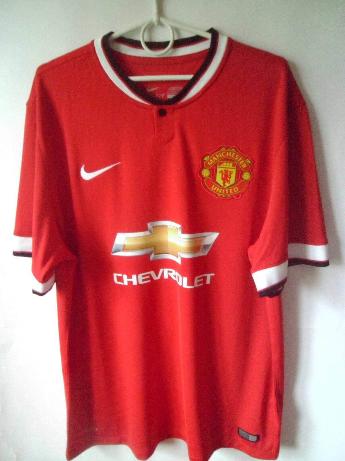 EXCELLENT     2014-15 2014-15 2014-15 Manchester United Home Shirt Jersey Trikot XL 94746e