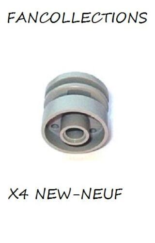 55981 NEUF Light Bluish Gray Wheel 18mm D LEGO x 4 x 14mm with Pin Hole