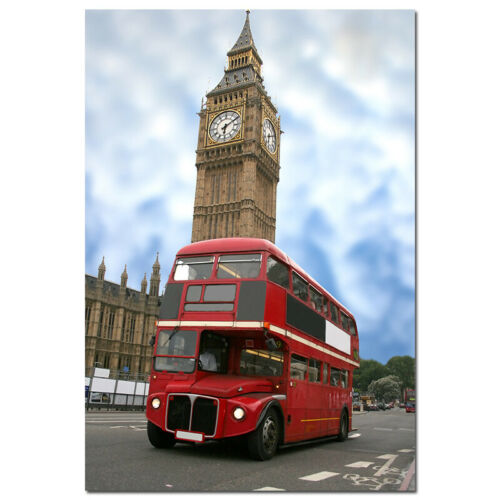 Big Ben Red Telephone Booth Canvas Prints /& Poster Decker Bus Pictures Wall Art