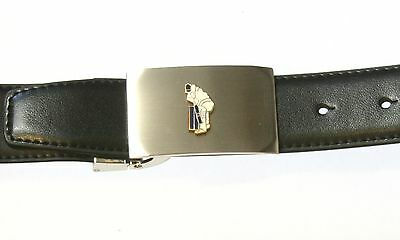 Cricketer Enamel Metal Buckle And Leather Belt Set Cricket Sport Tinned Gift 88 Groot Assortiment