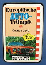 Quartett - Europäische Auto-Trümpfe - BIELEFELDER SPIELKARTEN -- Nr. 0249 -Joker