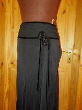 PRINCIPLES black crinkle chiffon STEAMPUNK VICTORIANA long boho skirt BNWT 10 38