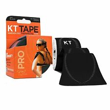 KT TAPE PRO Elastic Kinesiology Therapeutic Tape 20 CT Color: Jet Black