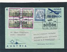 7,- Aerogramm 1998 80 Jahre Fluglinie Wien-Budapest   (C35)