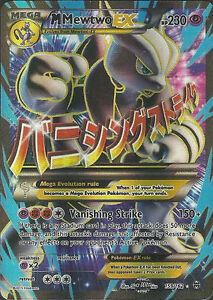 Pokemon tcg xy breakthrough mega m mewtwo ex full art 159 162 blue ebay - Mewtwo y mega evolution ...