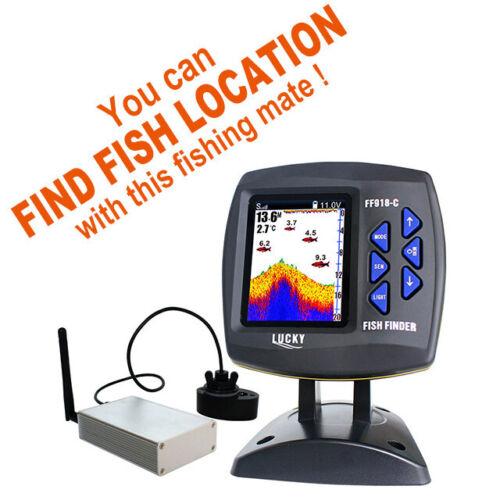 LUCKY Wireless Sonar Fish Finder Tragbare 300m//980ft Sounder Fisch Detektor PM