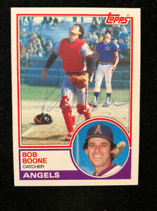 BOB-BOONE-1983-TOPPS-AUTOGRAPHED-SIGNED-AUTO-BASEBALL-CARD-765-ANGELS