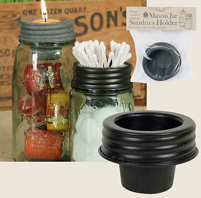 Mason Jar Tapered Candle Lid Top by CTW Home Collections - Votives - Tea Lights