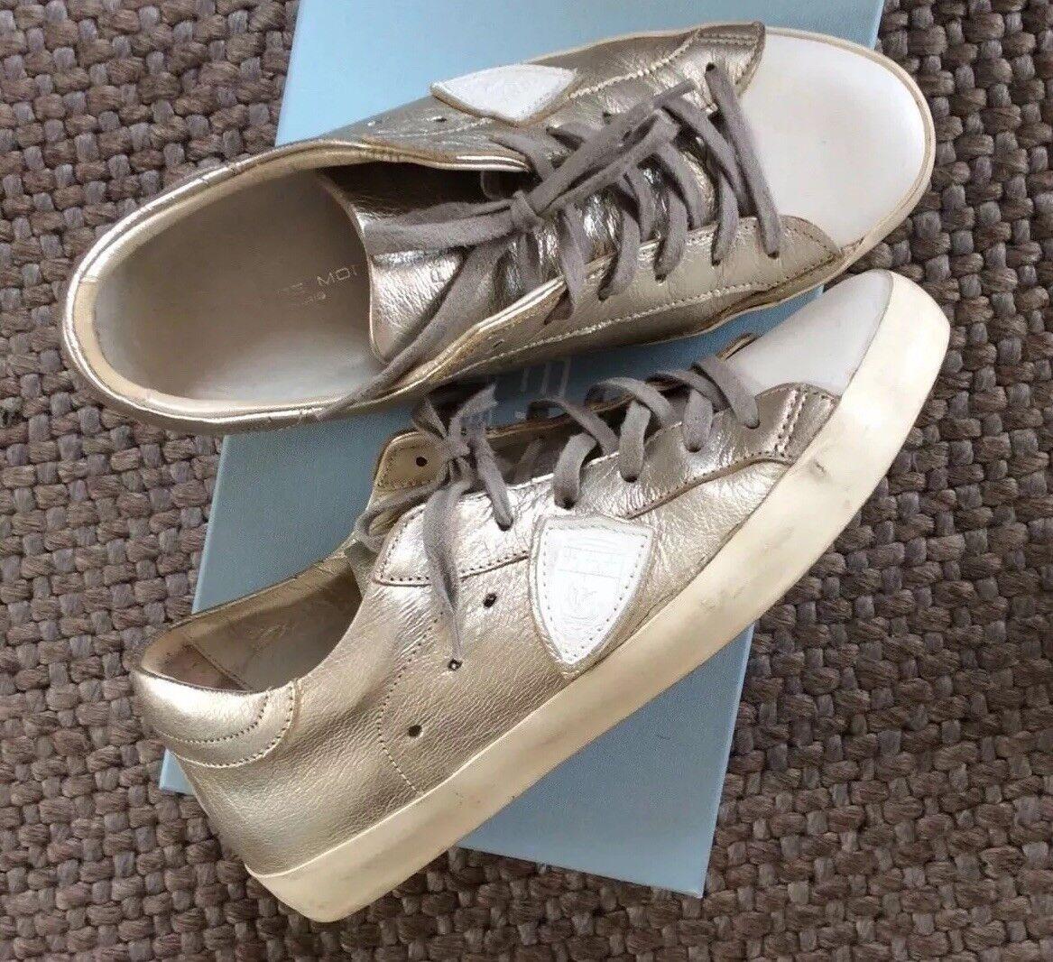 Sneaker Sneaker Sneaker damen 40 philippe model silber/weiß 053768