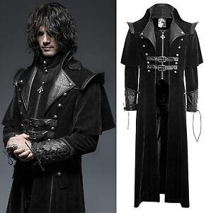 Coat Zu Punk Gothic Rave Kutschermantel Herren Jacke Details 636 Mantel Lang Y Schwarz HW29IED