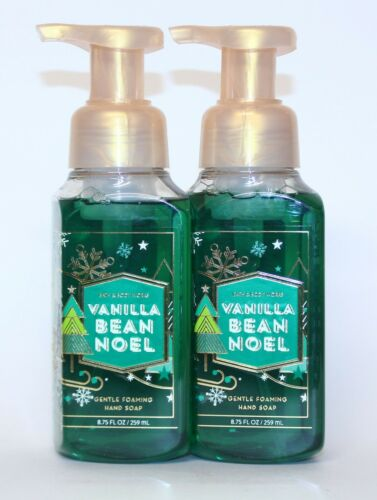 2 Bath & Body Works VANILLA BEAN NOEL Gentle Foaming Hand Soap 8.75 oz
