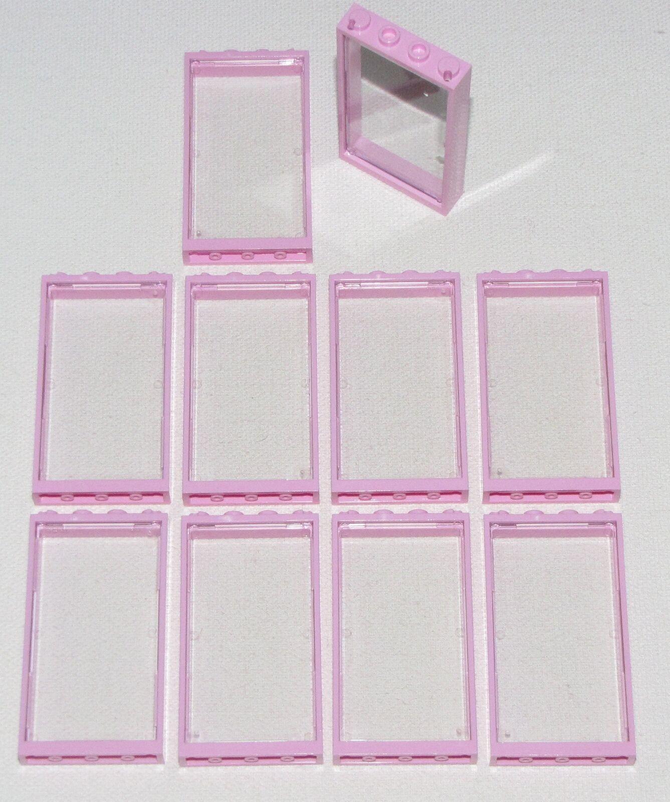 Lego X Lot Of 10 Neu 1 X Lego 4 X 6 Kräftiges Rosa Windows Mädchen Freunde Haus mit 8460e5