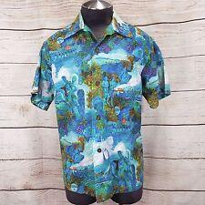 Duke Kahanamoku Catalina Vintage 1960's Native Hawaiian Tiki Tapa Aloha Shirt