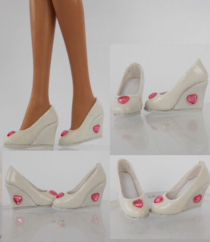 Fashion White Shoes//Pumps for Tyler Wentworth//CANDI Gene Alex Doll 67-TS-12