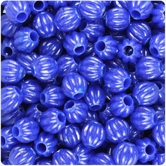 300 Black Opaque 10mm Melon Pony Beads Made in the USA