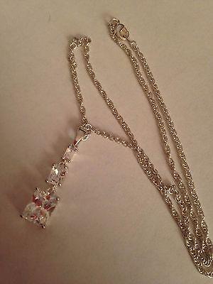(ss5) Silver Plated Swarovski Elements Crystal Pendant & Necklace Um Zu Helfen, Fettiges Essen Zu Verdauen