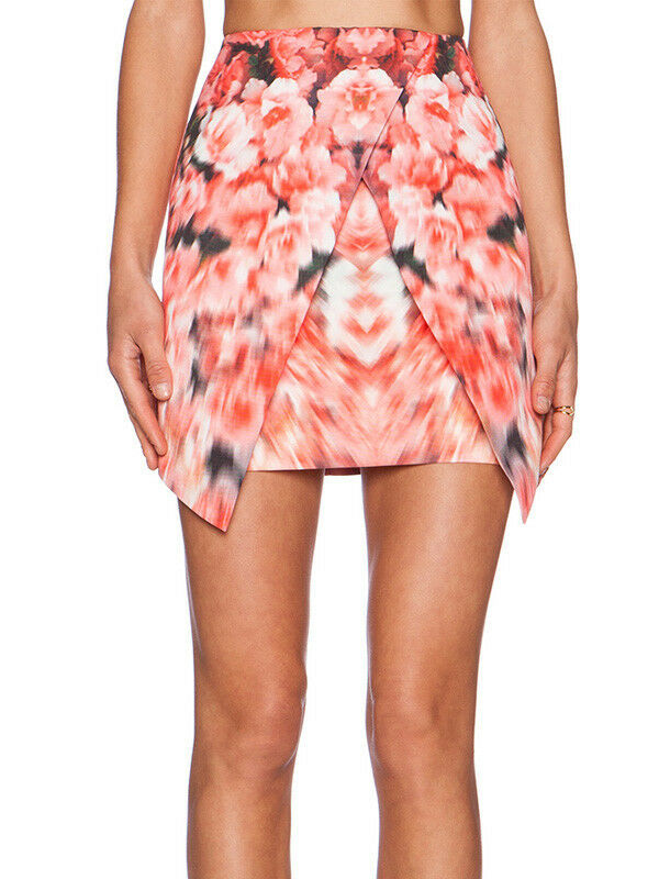 Finders Keepers Basic Instinct Pink White bluerred Floral Mini Skirt Xs S M L XL