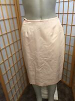 Nipon Boutique Pink Cotton Knee Length A Line Fully Lined Skirt Womens Size 6