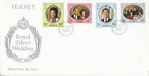 JERSEY 21 NOVEMBER 1972 ROYAL SILVER WEDDING JPO UNADDRESSED FIRST DAY COVER SHS - Weston Super Mare, Somerset, United Kingdom - JERSEY 21 NOVEMBER 1972 ROYAL SILVER WEDDING JPO UNADDRESSED FIRST DAY COVER SHS - Weston Super Mare, Somerset, United Kingdom