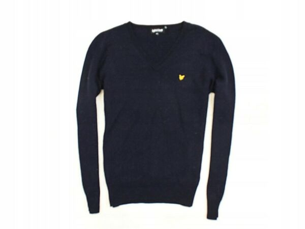 *n Lyle Scott Mens Sweather V-neck Wool Size L