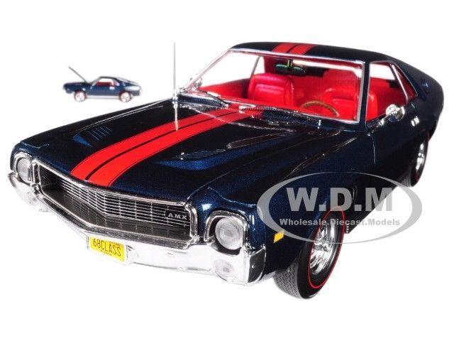 seguro de calidad 1968 AMC AMC AMC AMX  clase de 68  50TH aniversario Limitado Ed 1 18 & 1 64 Autoworld AMM1124  marcas de moda