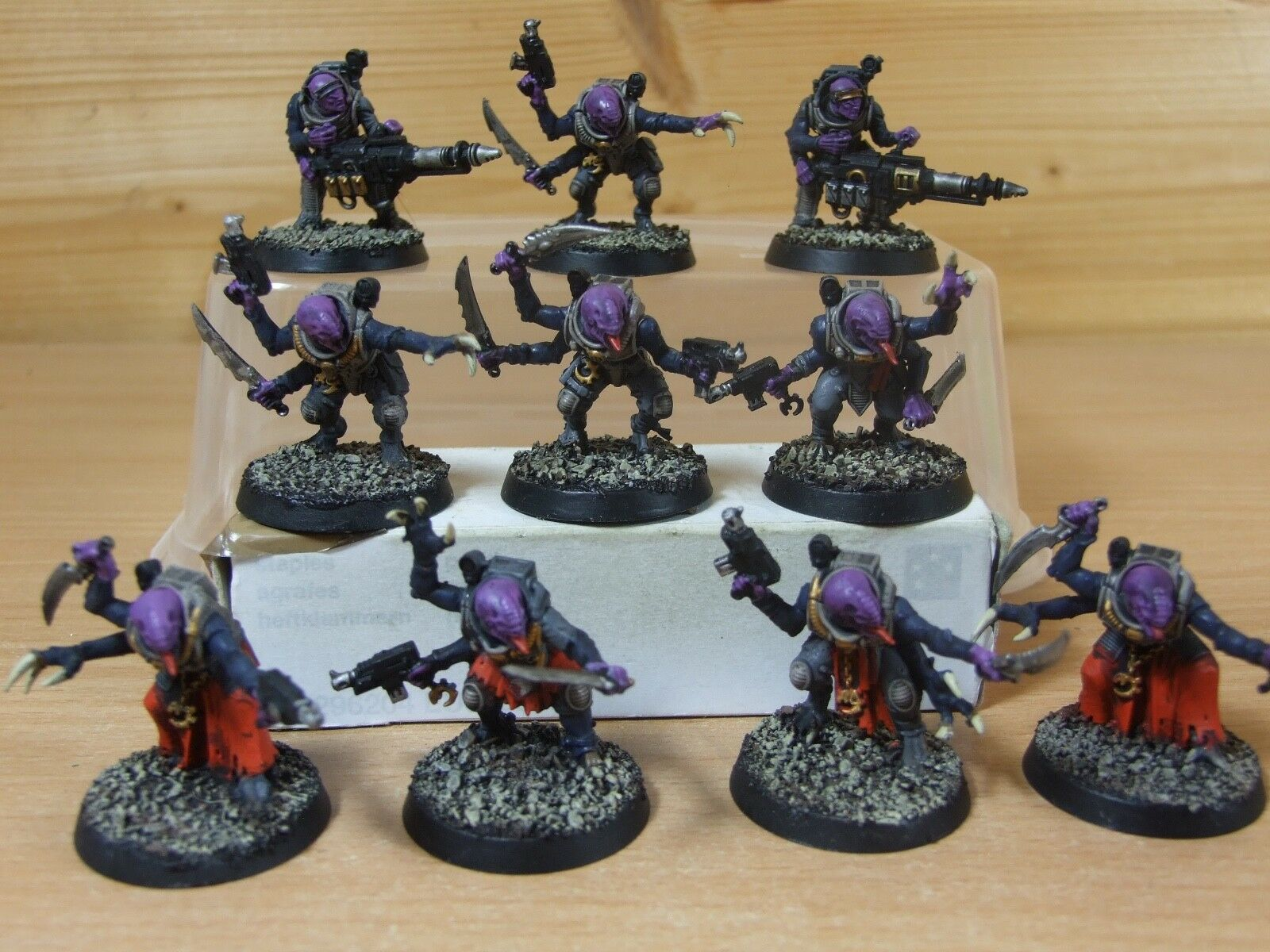 10 PLASTIC GENESTEALER CULT ACOLYTE HYBRIDS WELL PAINTED (859)