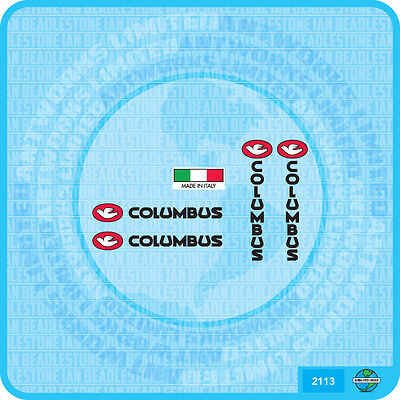 Set 116 Columbus Fork /& Chainstay  Bicycle Decal Transfer Sticker
