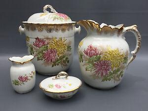 Antique-royal-vitreous-porcelain-John-Maddock-amp-Sons-chamber-bath-set-1870-039-s