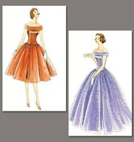 Pattern Vogue 1094 Womens Size 6 To 20 Prom Dress Floor Length Usa 1955