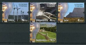 Portugal-2018-MNH-Electricity-4v-Set-Science-Technology-Industry-Stamps