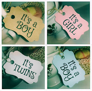 10 Or 20 X It S A Boy Girl Baby Shower Cupcake Party Gift Tags New