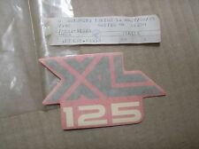Honda XL 125 XL125 decal graphic emblem 87125-KB1-910ZB genuine NOS