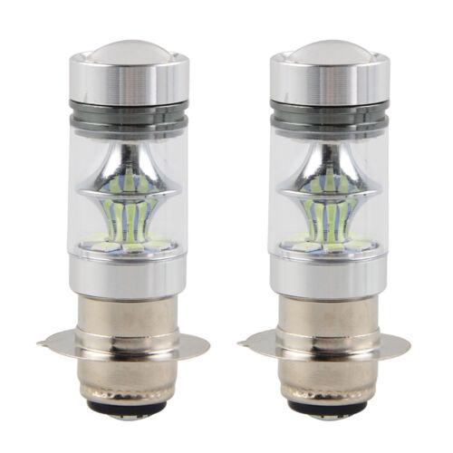 2 x 100W 8000K LED Headlight Bulb For ATV Kawasaki Mule 600 610 3000 3010 4000
