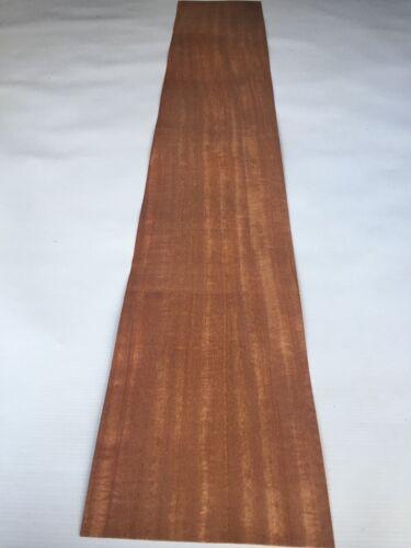 41.7 x 7 inches 1060mm x 180mm NATURAL WOOD Sheet Figured Mahogany Veneer
