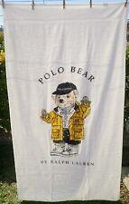Polo Bear Ralph Lauren Oversized Body Beach Towel Polo Sport Hat Yellow Jacket