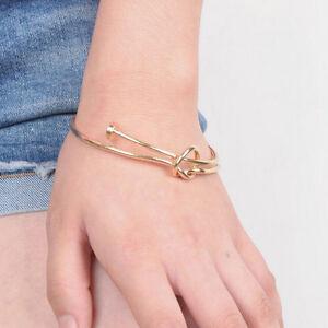 1PCS-Fashion-Men-039-s-Women-039-s-Stainless-Steel-Screw-Nail-Knot-Bracelet-Bangle-PlF