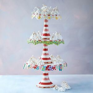 Image Is Loading Glitterville Christmas Cake Plate Stand 3 Tier Candy