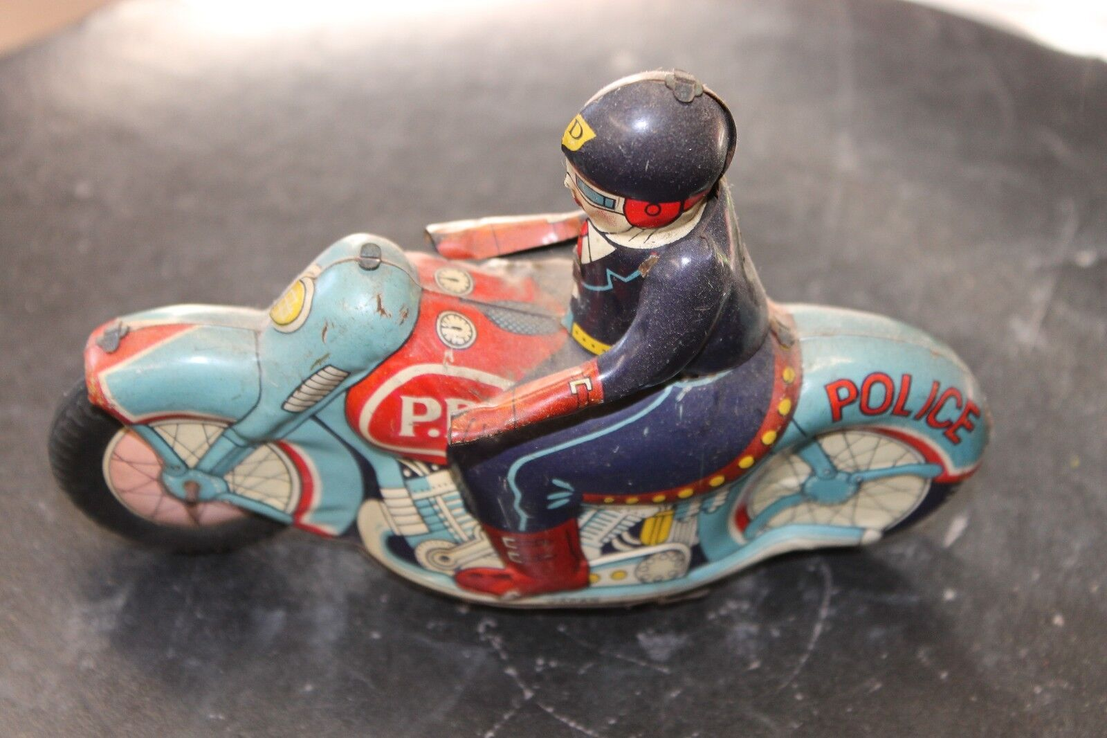 Tin motorcycle Toy ,vintage,51 2 inch P.D. motorcycle,motorcycle toy,antique