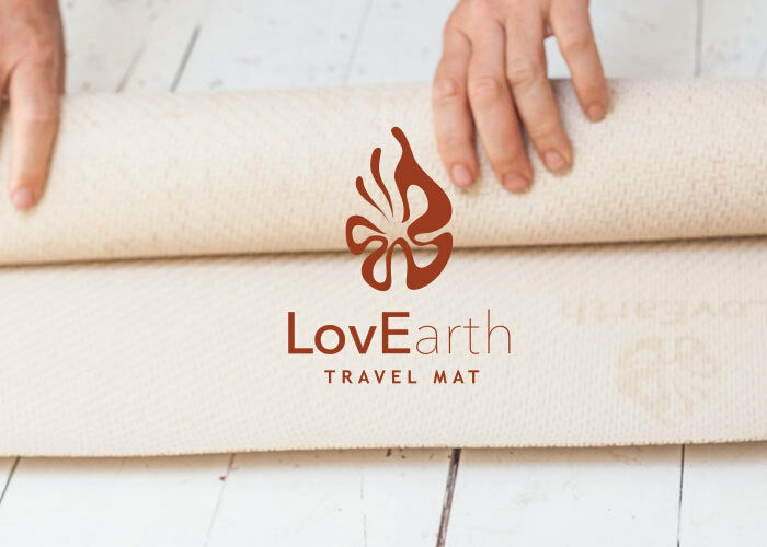 LovEarth Travel Yoga Mat Natural Eco-Mat Environmentally Friendly Earth Positive