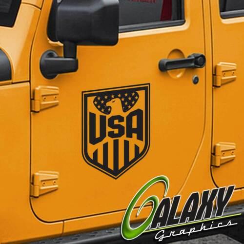 Jeep Wrangler USA American Flag Door Decals Tj Lj Jk Jku Pair Left /& Right