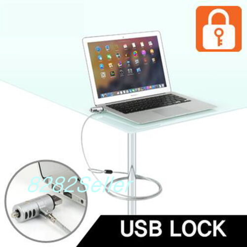 Security USB Port Lock Steel Cable Chain Key type For MacBook Air /& Pro 1.8M 6FT