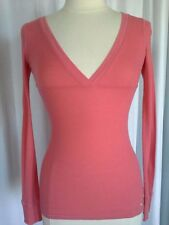 SIZE S - JUNIOR ABERCROMBIE AND FITCH Beach Coral / Salmon Rib Knit Pullover Top