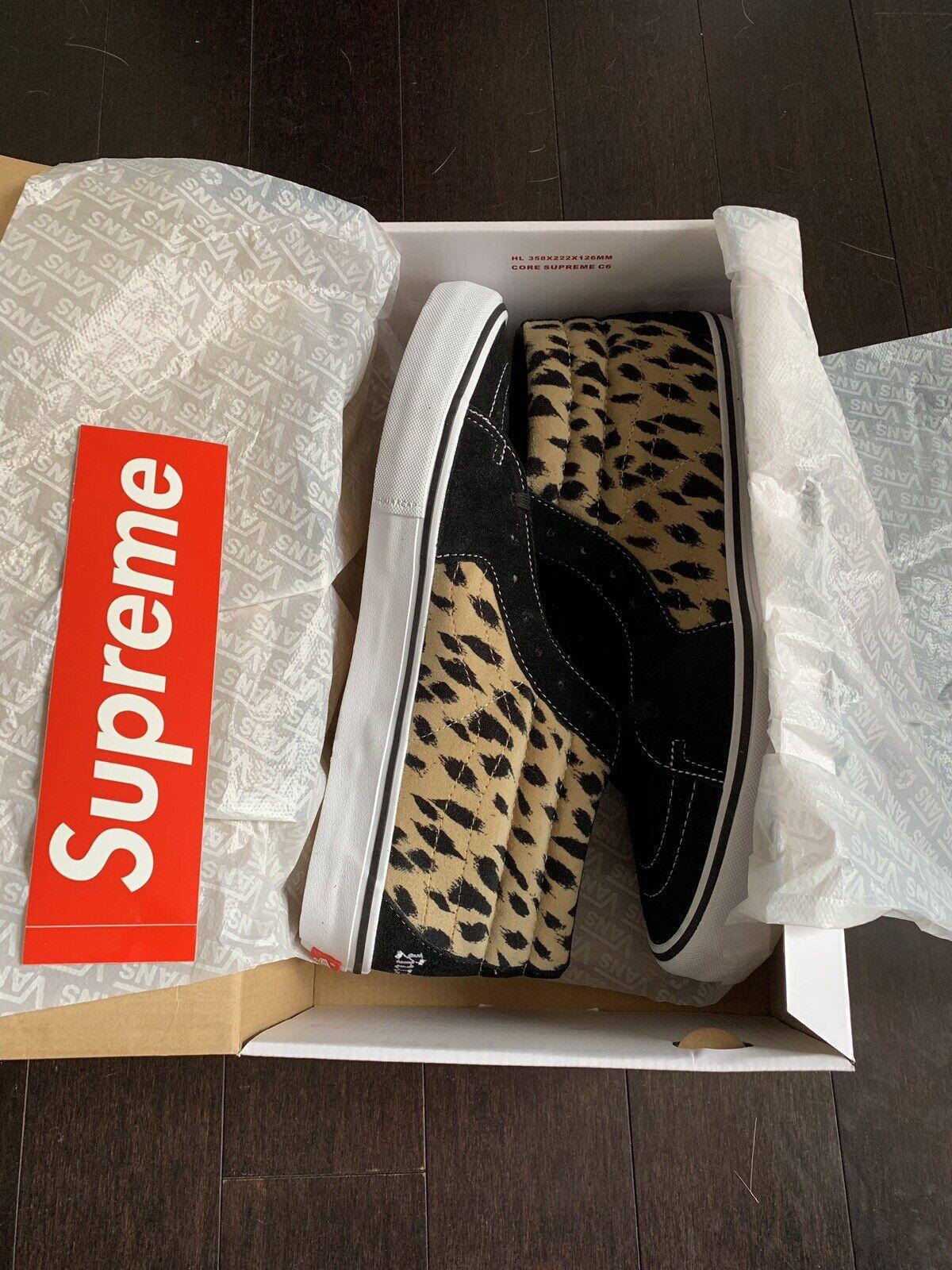 Vans supreme sk8 mid Cheetah Size 13