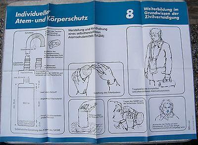 Zielsetzung Plakat Ca. A 1, 1986, Zivilverteidigung 8, Selbstherstellbare Atemschutzmittel